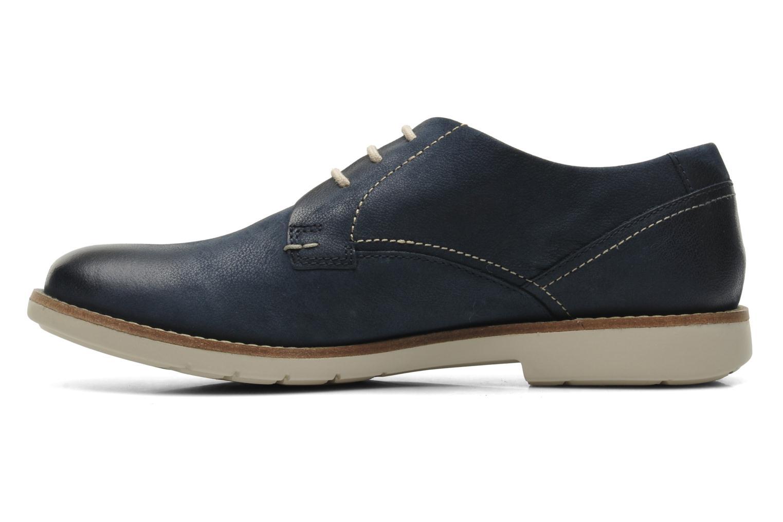 Chaussures à lacets Clarks Raspin Plan Bleu vue face