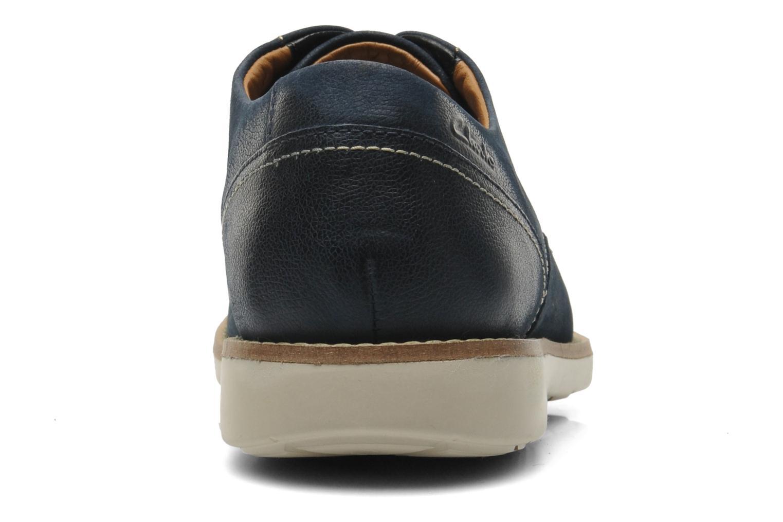 Chaussures à lacets Clarks Raspin Plan Bleu vue droite
