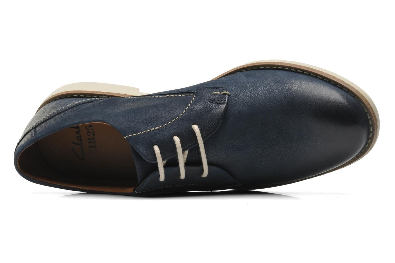 Chaussures à lacets Clarks Raspin Plan Bleu vue gauche