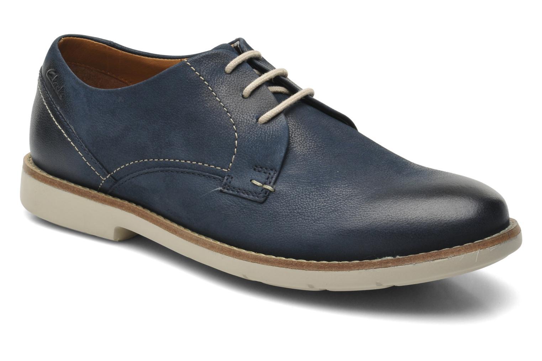Chaussures à lacets Clarks Raspin Plan Bleu vue détail/paire