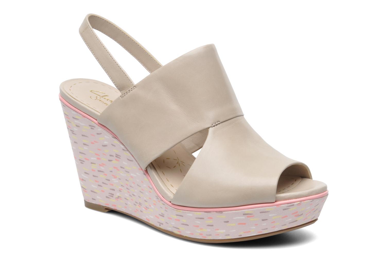 Sandales et nu-pieds Clarks Scent Whisp Gris vue détail/paire