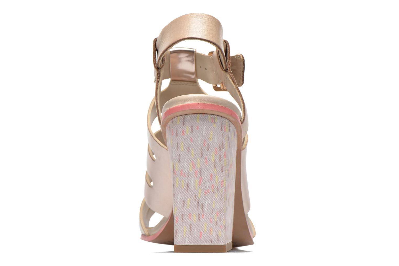 Sandales et nu-pieds Clarks Ski Tropical Or et bronze vue droite