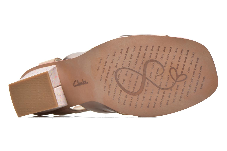 Sandales et nu-pieds Clarks Ski Tropical Or et bronze vue haut