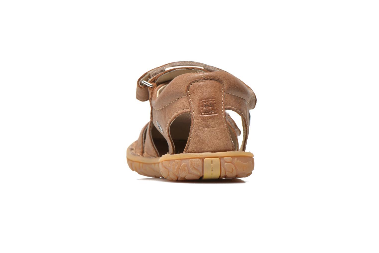 Sandales et nu-pieds Noël BOON Marron vue droite