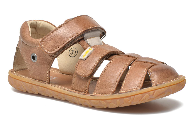 Sandales et nu-pieds Noël BOON Marron vue détail/paire