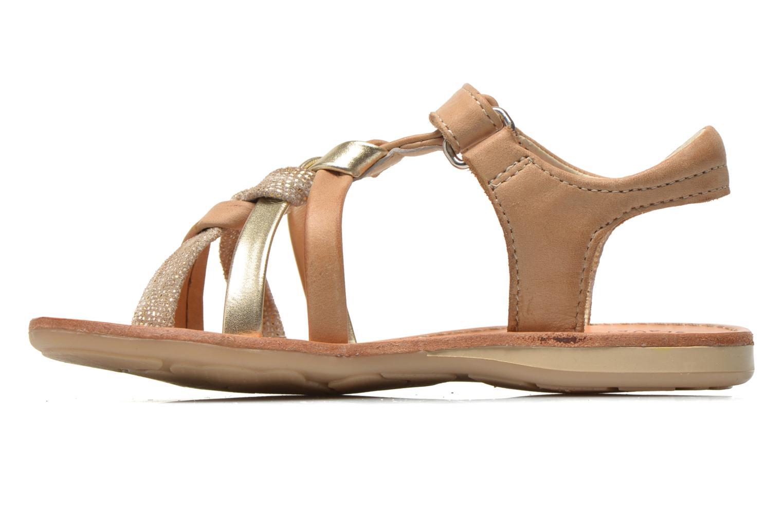Sandales et nu-pieds Noël Strass Marron vue face