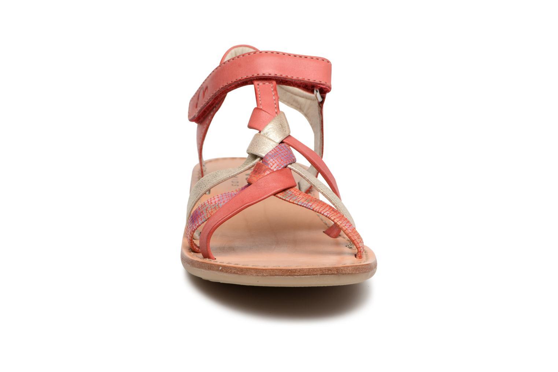 Sandales et nu-pieds Noël Strass Rose vue portées chaussures