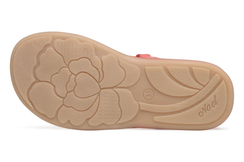 Sandales et nu-pieds Noël Strass Rose vue haut