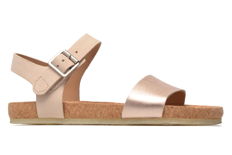 Sandali e scarpe aperte Clarks Originals Dusty Soul Oro e bronzo immagine posteriore