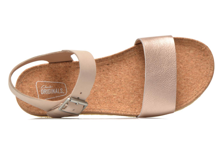 Sandali e scarpe aperte Clarks Originals Dusty Soul Oro e bronzo immagine sinistra