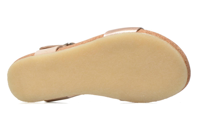 Sandali e scarpe aperte Clarks Originals Dusty Soul Oro e bronzo immagine dall'alto