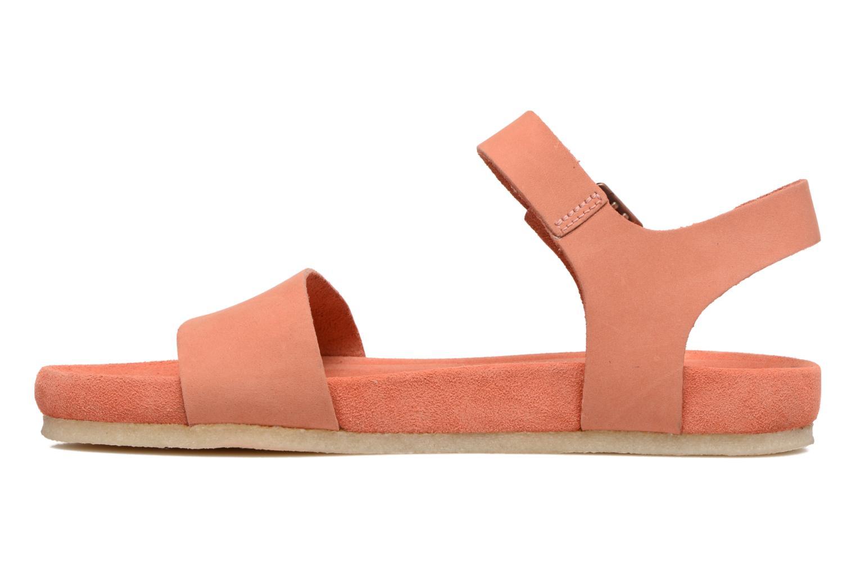 Sandales et nu-pieds Clarks Originals Dusty Soul Orange vue face