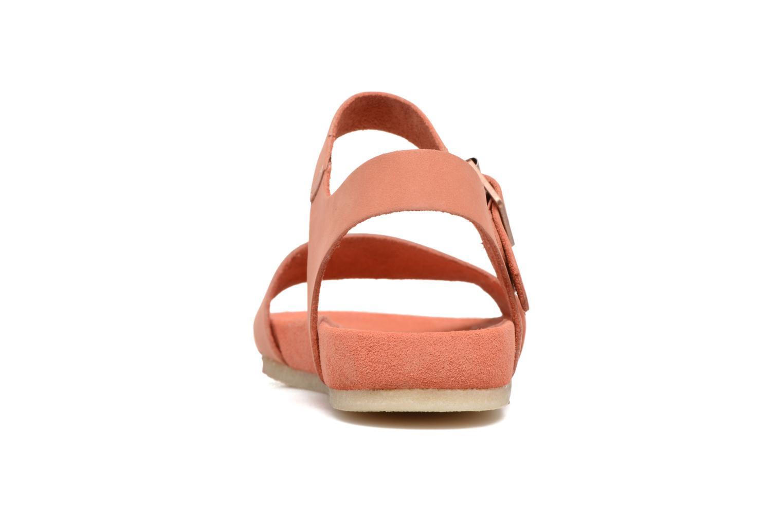 Sandales et nu-pieds Clarks Originals Dusty Soul Orange vue droite