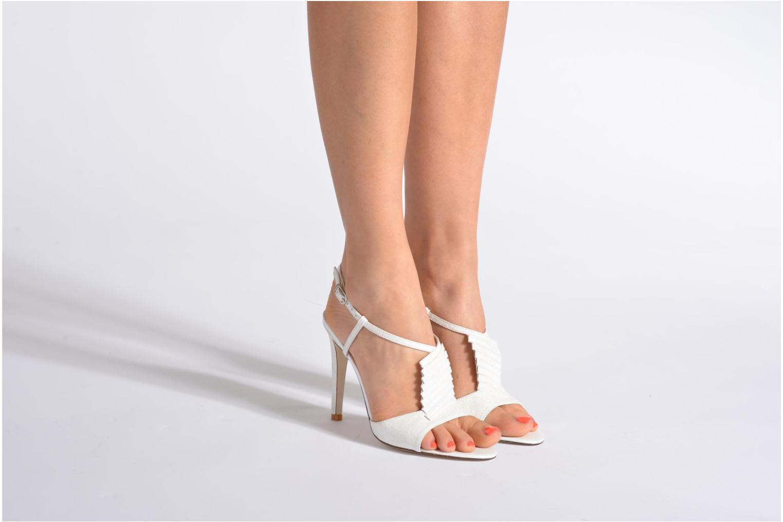 Sandales et nu-pieds Georgia Rose Rumimy Blanc vue bas / vue portée sac