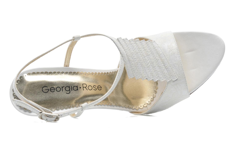 Sandalias Georgia Rose Rumimy Blanco vista lateral izquierda