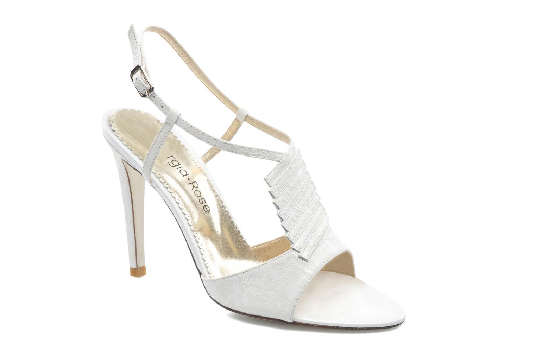 Sandales et nu-pieds Georgia Rose Rumimy Blanc vue détail/paire