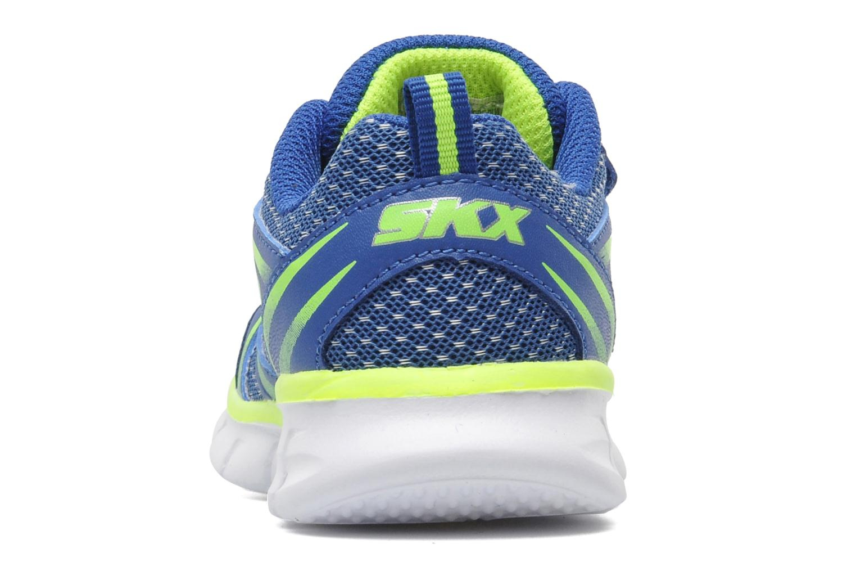 Baskets Skechers Synergy Mini Sprint Bleu vue droite