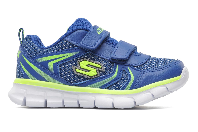 Baskets Skechers Synergy Mini Sprint Bleu vue derrière