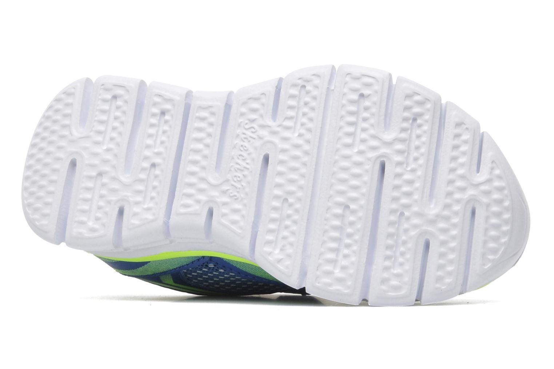 Baskets Skechers Synergy Mini Sprint Bleu vue haut