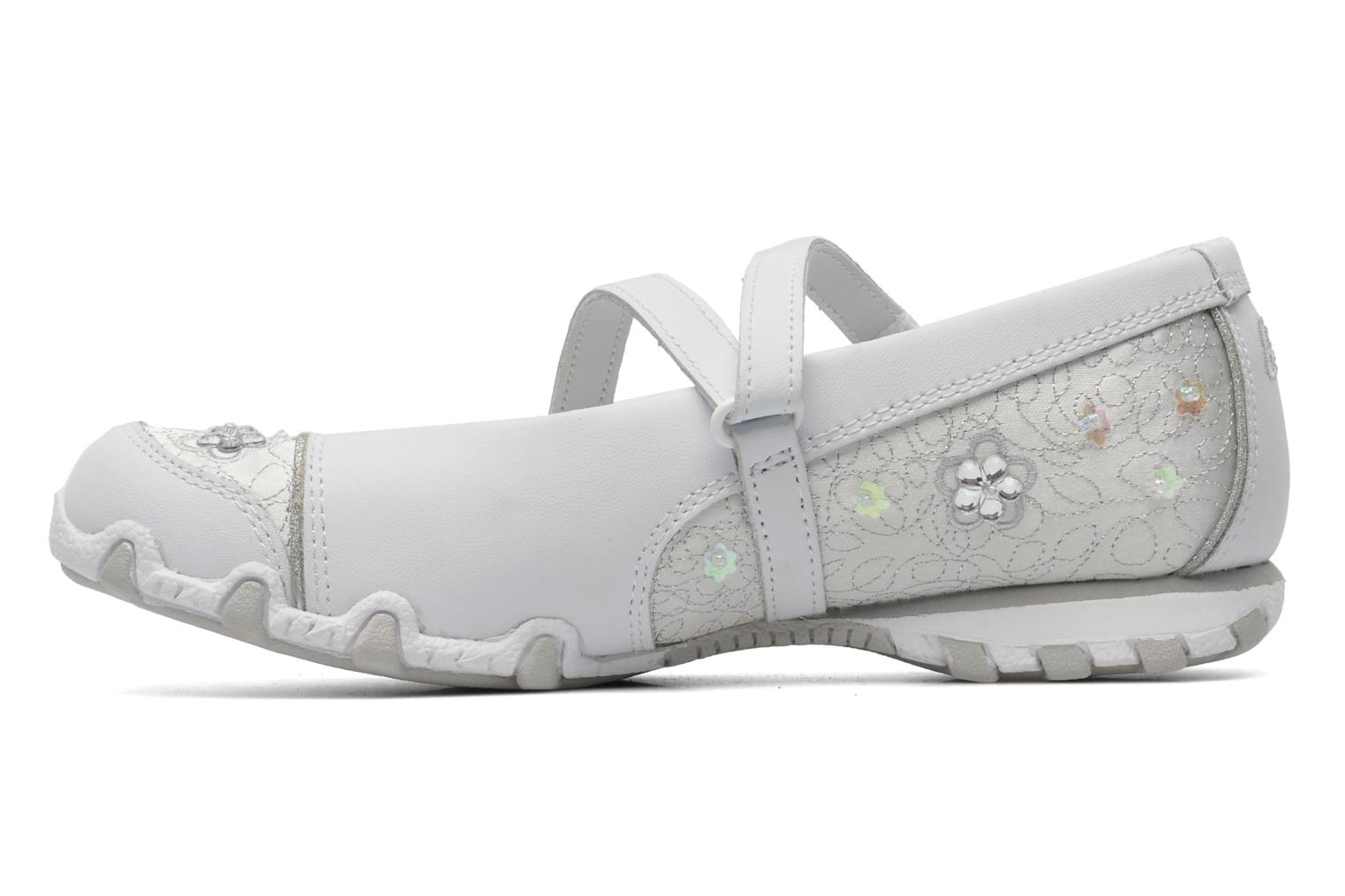 Ballerines Skechers Bikers Fauna Smooth Blanc vue face