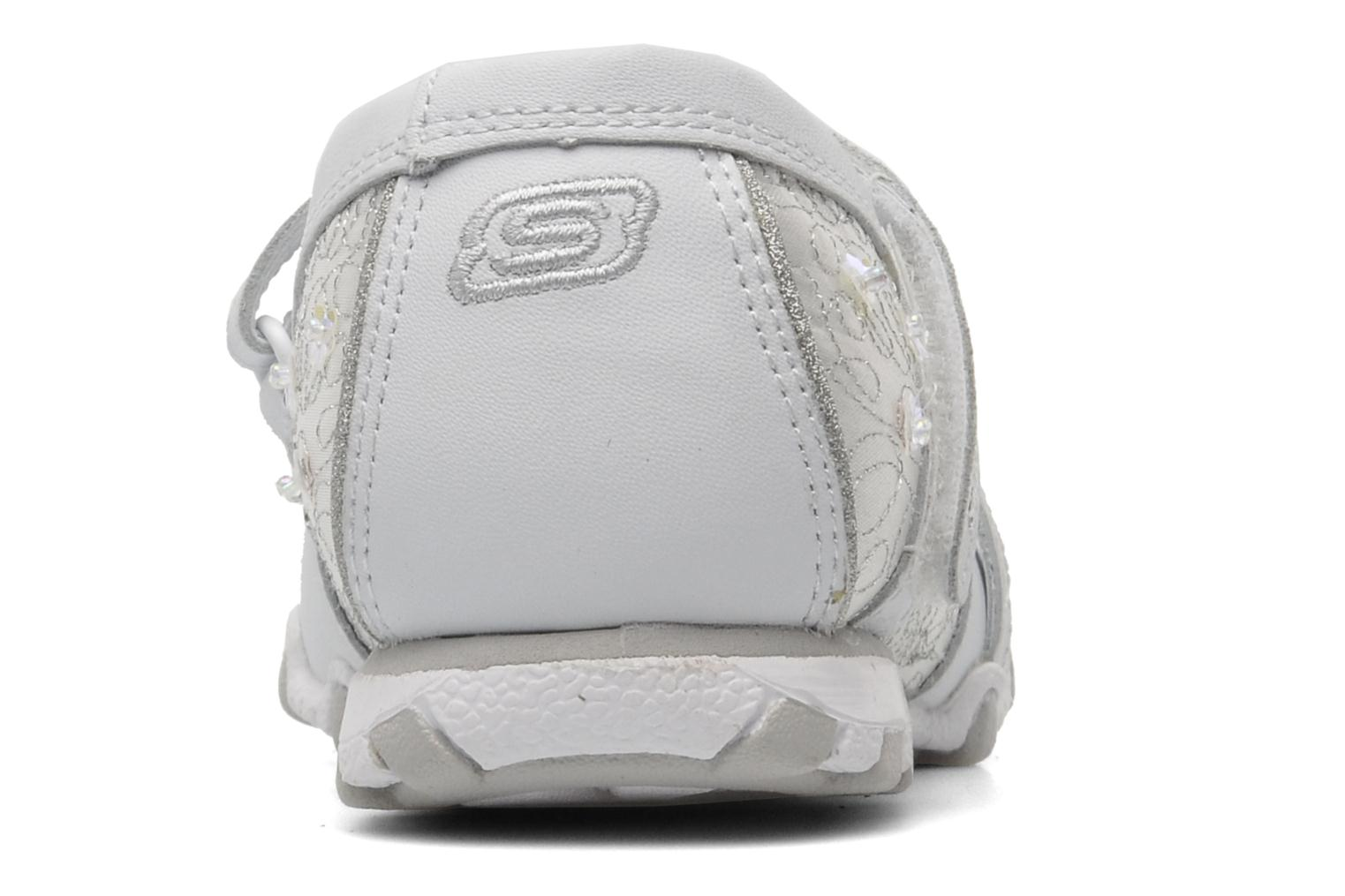 Ballerines Skechers Bikers Fauna Smooth Blanc vue droite