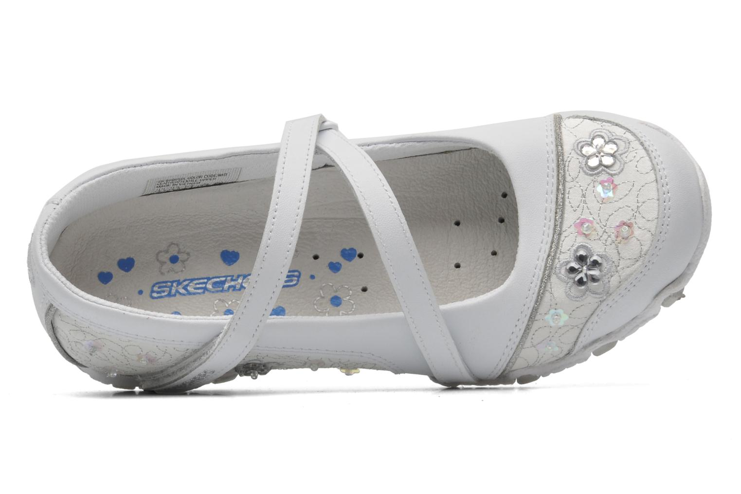 Ballerines Skechers Bikers Fauna Smooth Blanc vue gauche