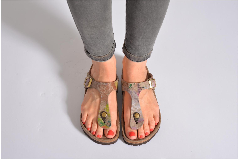 Sandalen Birkenstock Gizeh Cuir W schwarz ansicht von unten / tasche getragen