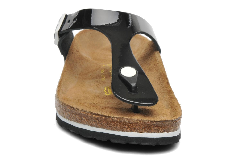Mules et sabots Birkenstock Gizeh Cuir W Noir vue portées chaussures
