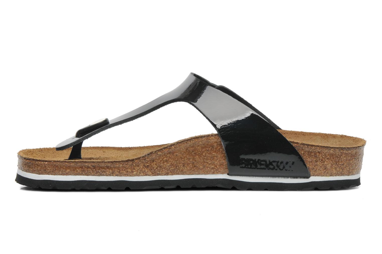 Sandalen Birkenstock Gizeh Cuir W schwarz ansicht von vorne