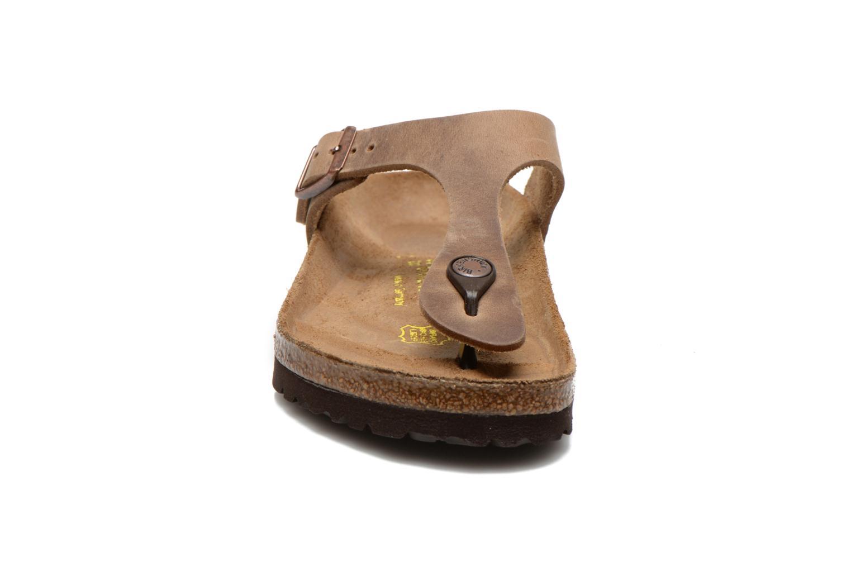 Grandes descuentos últimos zapatos Birkenstock Gizeh Cuir W (Marrón) - Zuecos Descuento
