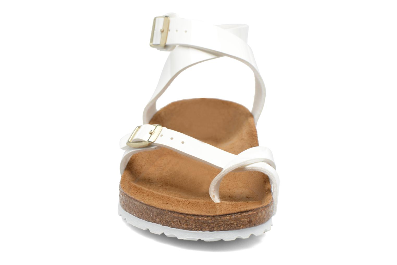 Sandals Birkenstock Yara Flor W White model view
