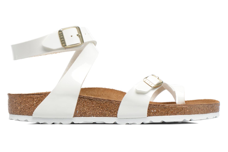 Sandals Birkenstock Yara Flor W White back view