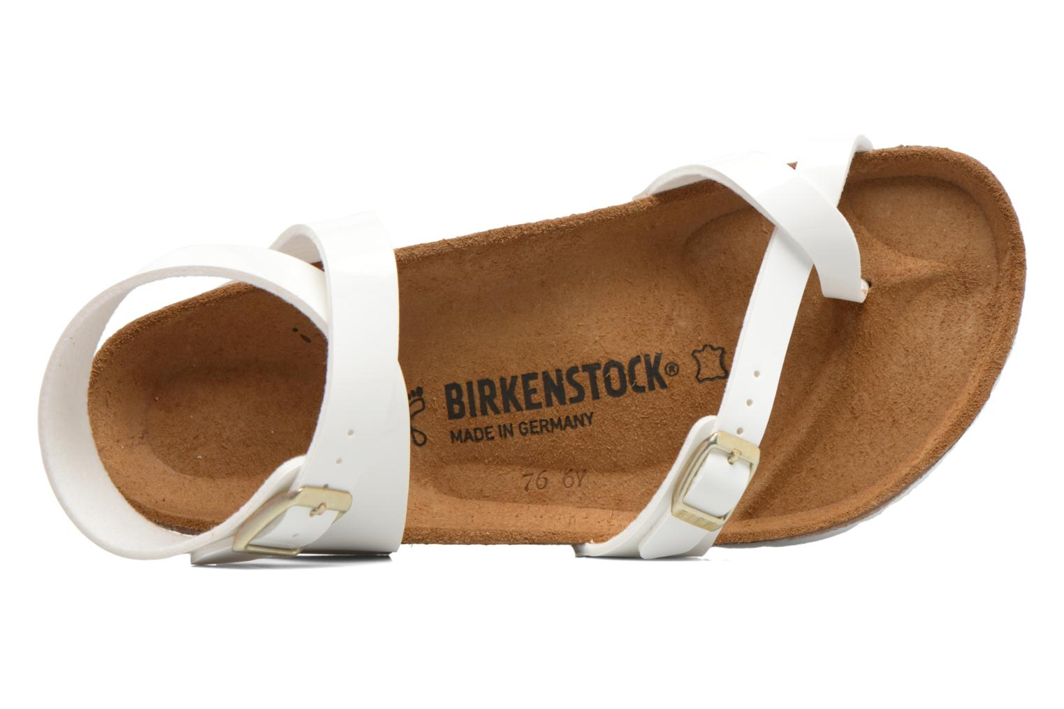 Sandals Birkenstock Yara Flor W White view from the left