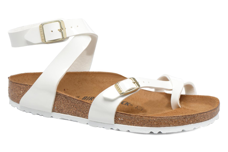 Sandals Birkenstock Yara Flor W White detailed view/ Pair view