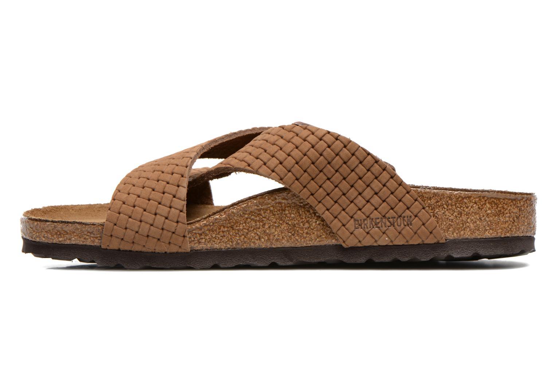Sandales et nu-pieds Birkenstock Tunis Nubuck M Marron vue face