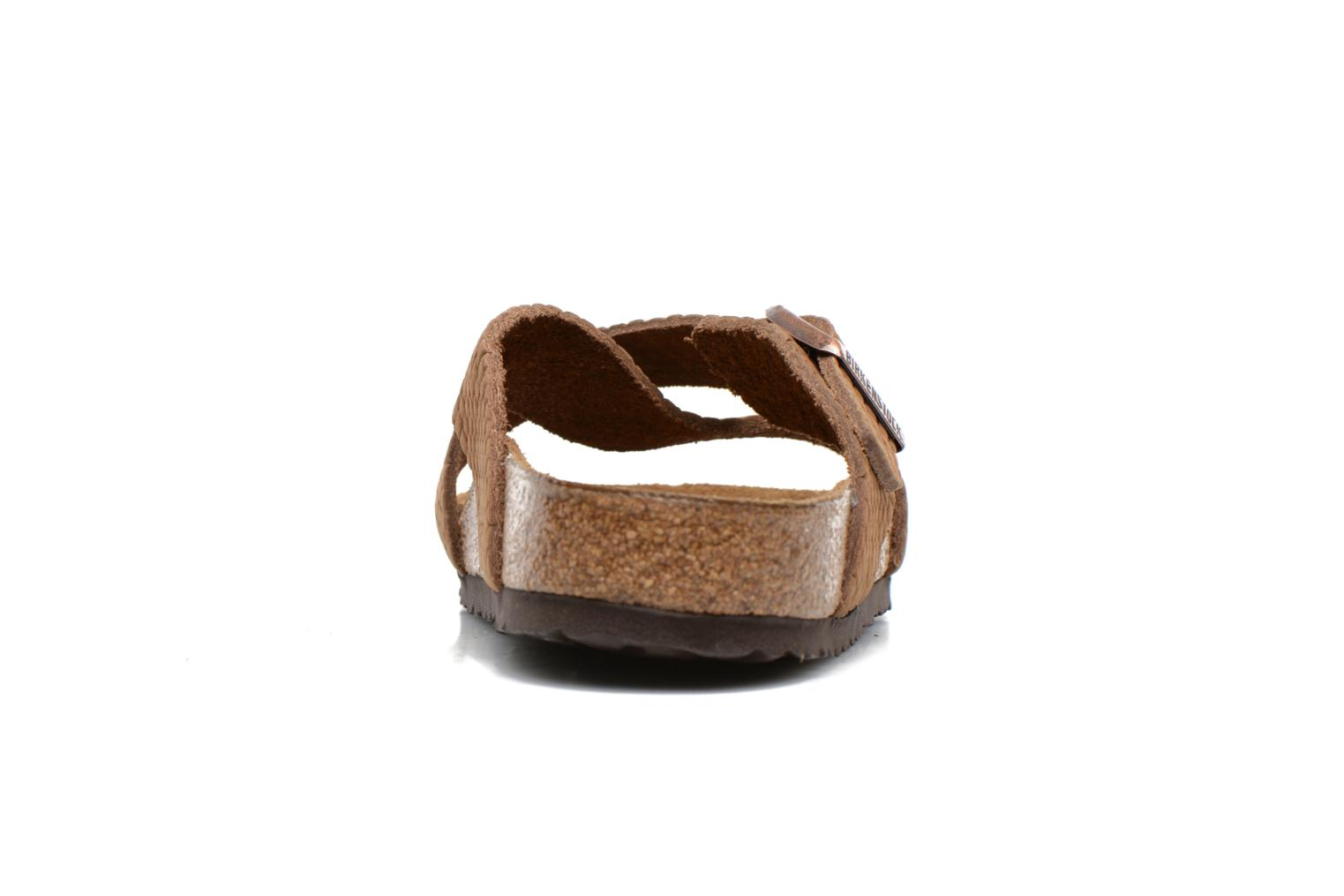 Sandals Birkenstock Tunis Nubuck M Brown view from the right