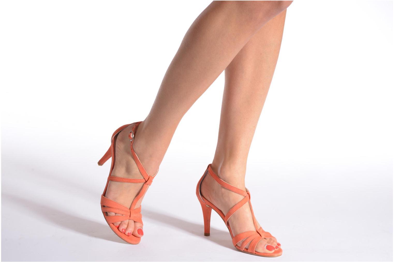 Sandales et nu-pieds Georgia Rose Epurée Noir vue bas / vue portée sac