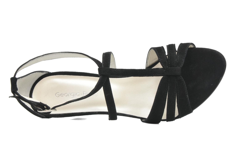 Sandales et nu-pieds Georgia Rose Epurée Noir vue gauche