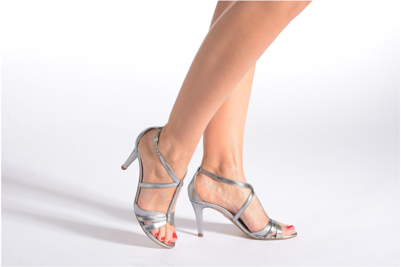 Sandals Georgia Rose Epurée Silver view from underneath / model view