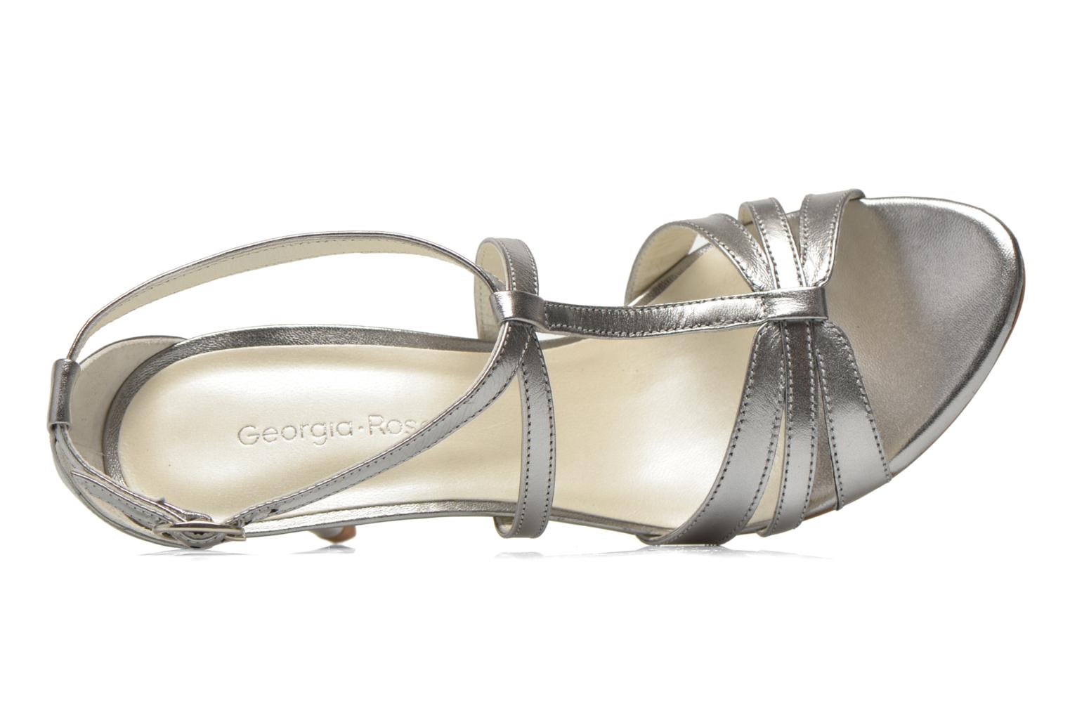 Sandals Georgia Rose Epurée Silver view from the left