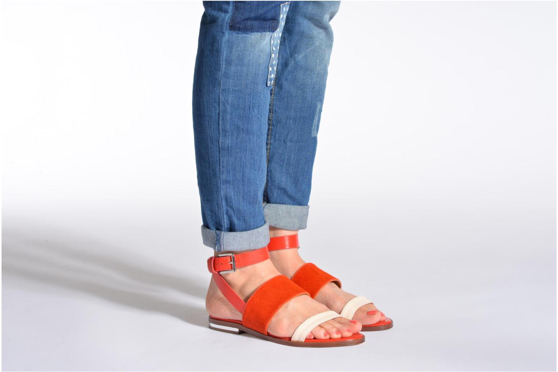 Sandales et nu-pieds Rebecca Minkoff Serena Orange vue bas / vue portée sac