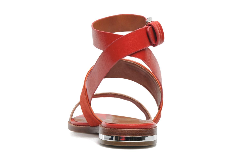 Sandales et nu-pieds Rebecca Minkoff Serena Orange vue droite