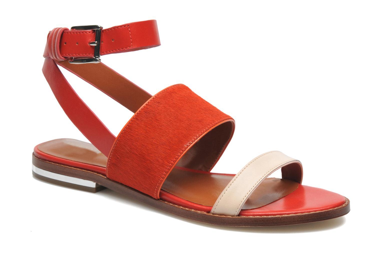Sandales et nu-pieds Rebecca Minkoff Serena Orange vue détail/paire
