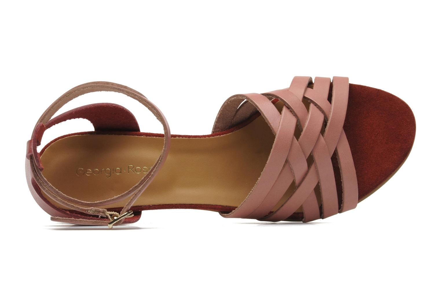 Sandals Georgia Rose Labibiche Pink view from the left