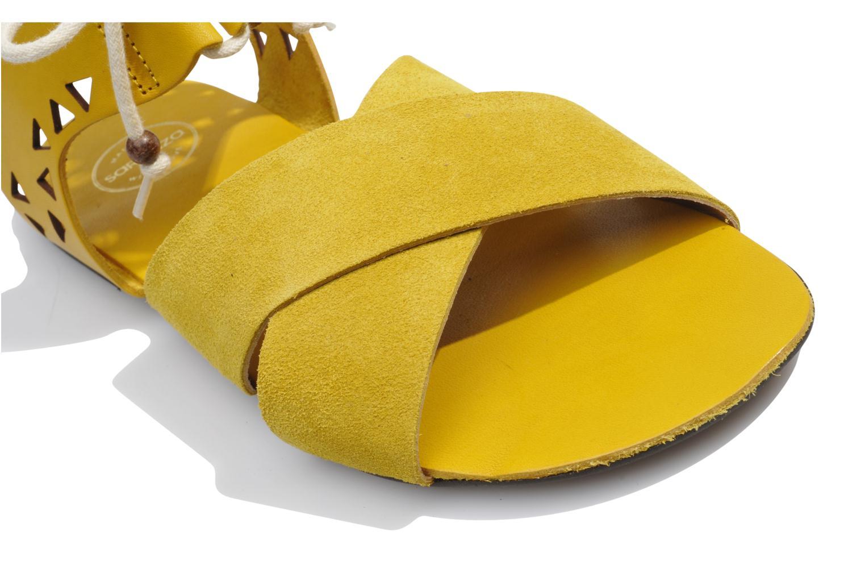Sandales et nu-pieds Made by SARENZA Nairobi #2 Jaune vue haut