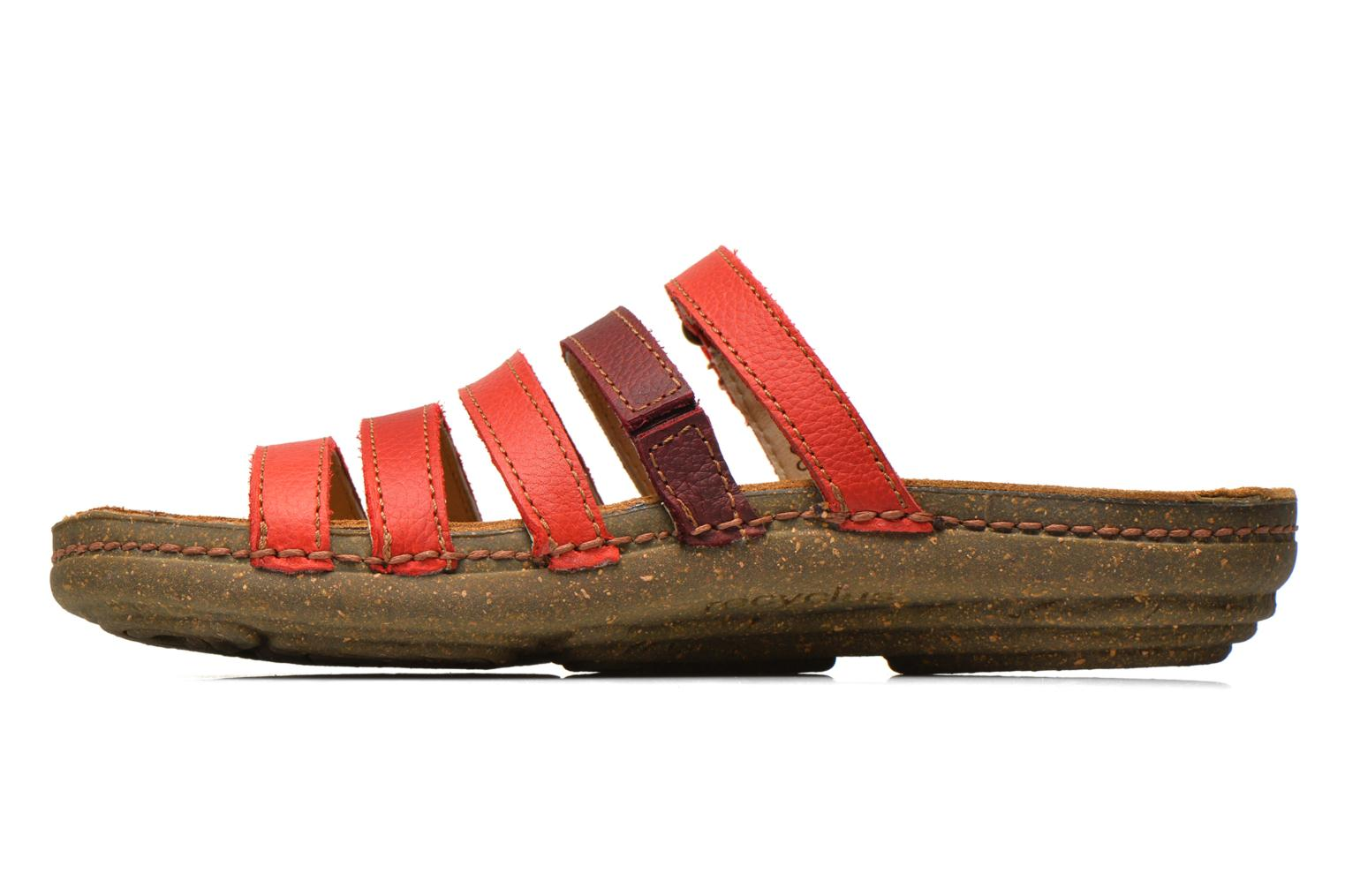 Mules & clogs El Naturalista Torcal N327 Red front view