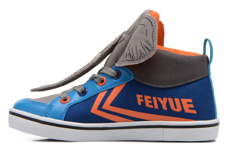 Sneakers Feiyue Delta Mid Animal Grijs voorkant