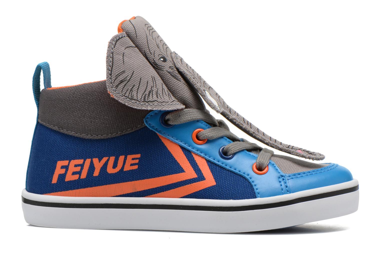 Sneakers Feiyue Delta Mid Animal Grijs achterkant