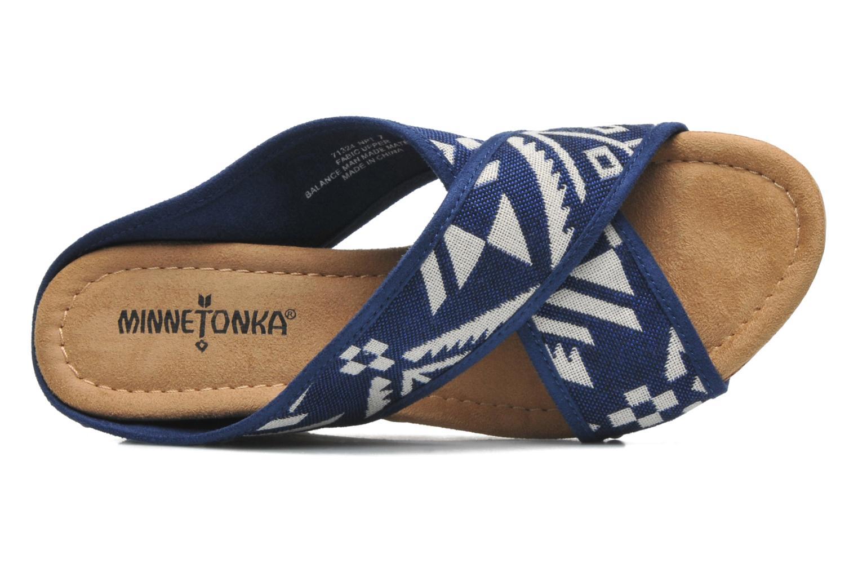 Sandalen Minnetonka Lainey blau ansicht von links