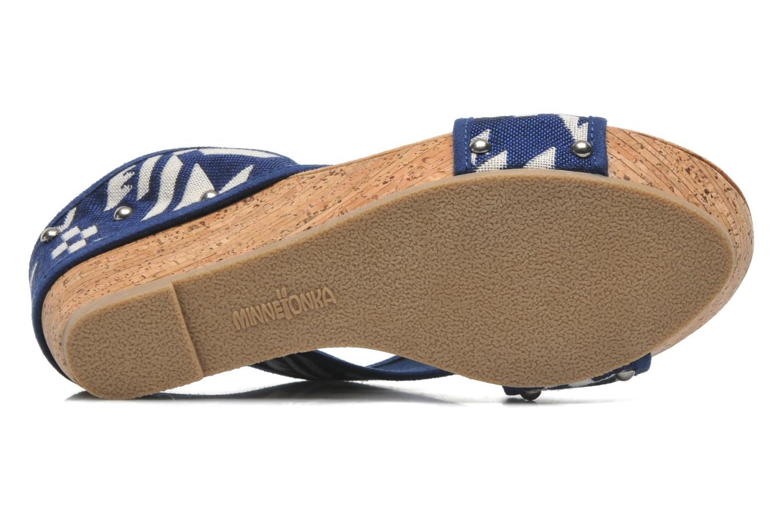Sandales et nu-pieds Minnetonka Lainey Bleu vue haut